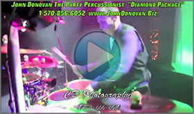 John Donovan The Party Percussionist Audiobiography and Diamond Package Demo Video