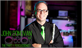 John Donovan The Party Percussionist is an acclaimed live Philadelphia wedding and mitzvah artist, musician and entertainer with DJS and bands